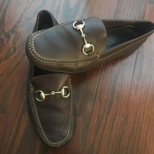 GUCCI leather driving loafers 10
